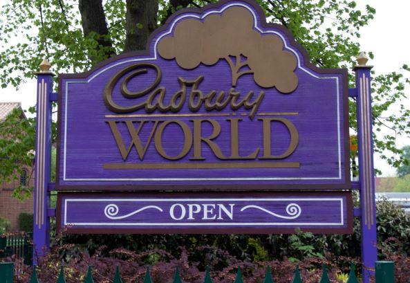 Skilt ved indgangen til Cadbury World