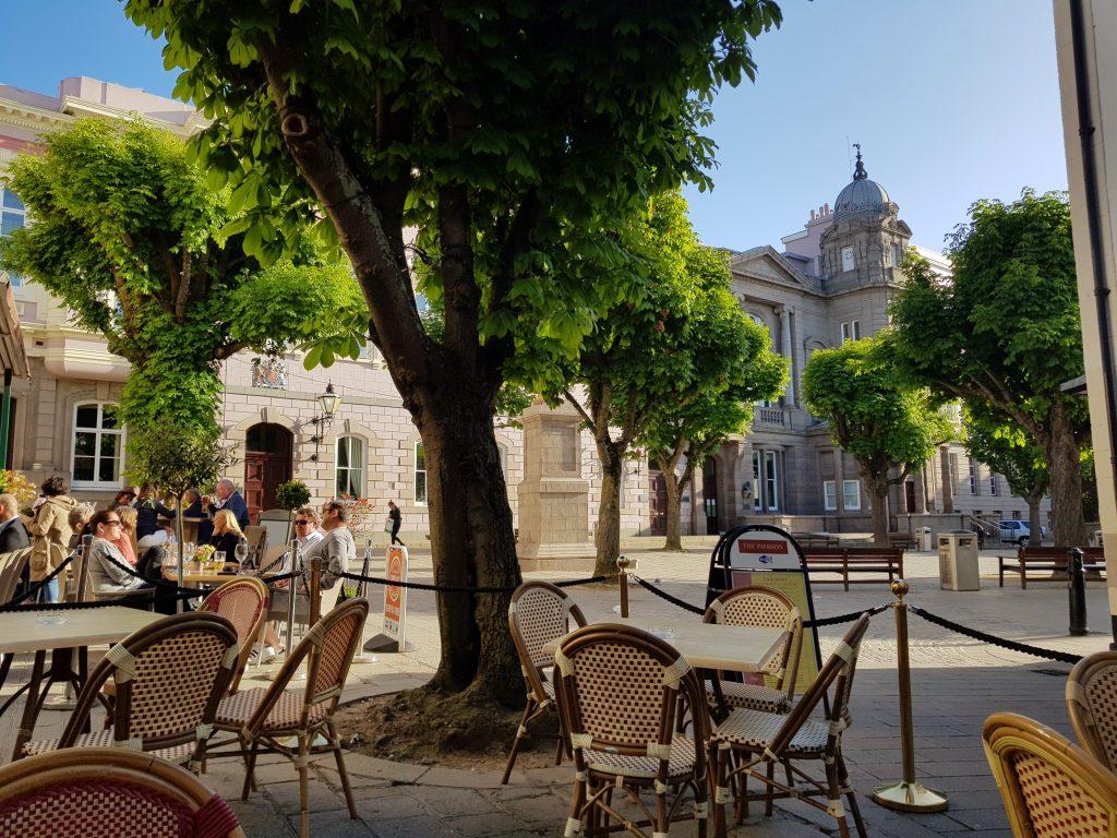Udsigt over Royal Square, St. Helier