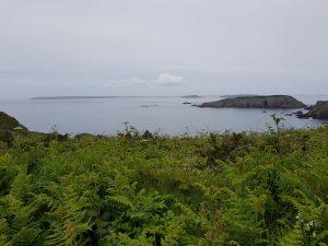 Udsigt fra La Coupee til Guernsey, Herm og Brecqhou