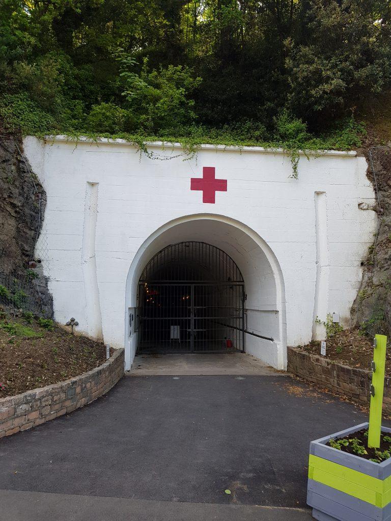 Indgangen til Jersey War Tunnels