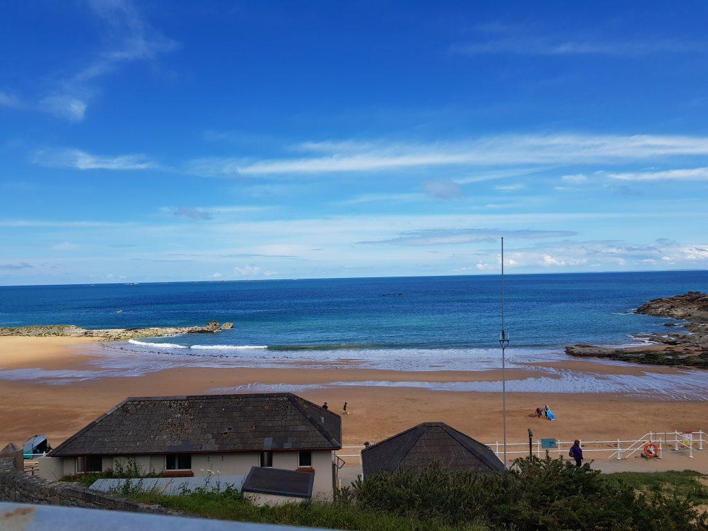 Stranden i Greve de Lecq - set fra Prince of Wales