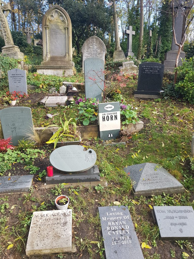 Grave op den østlige del af Highgate-kirkegården