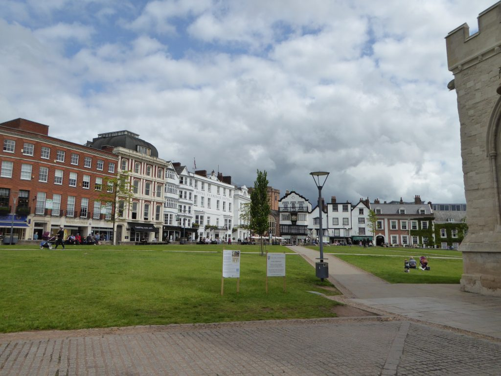 Cathedral Close i Exeter